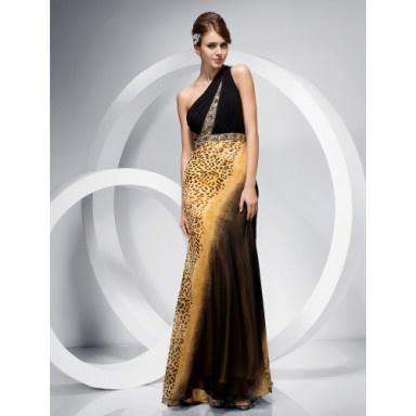 Trumpet/ Mermaid One Shoulder Floor-length Chiffon Evening Dress – US$ 199.99