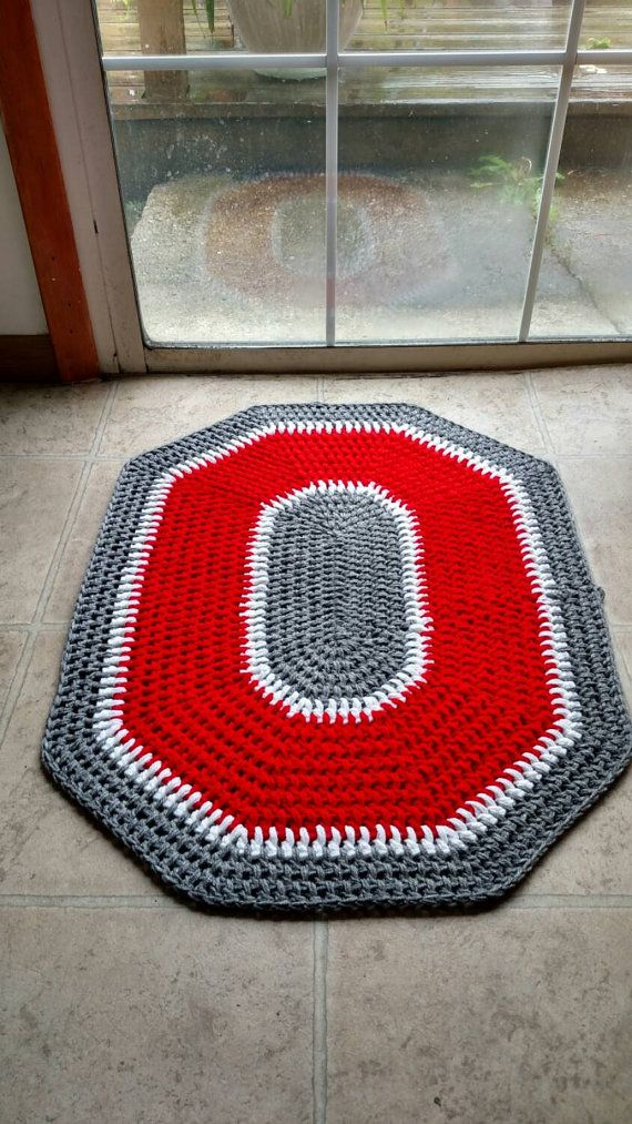 Check out this item in my Etsy shop https://www.etsy.com/listing/242186166/ohio-state-crochet-rug-handmade-block-o