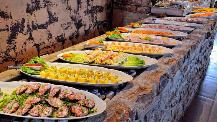 Seafood And Peruvian Ceviche Buffet Party Food