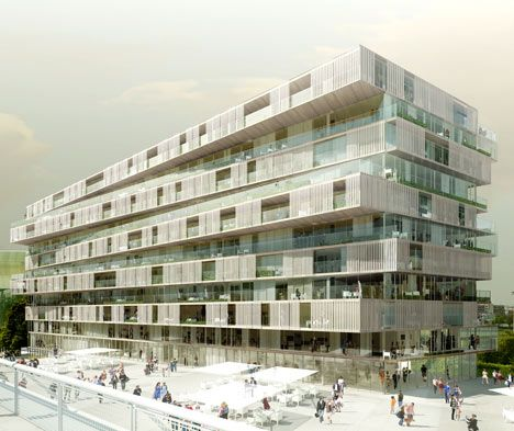 Housing for Jardins de l'Arche by Farshid Moussavi