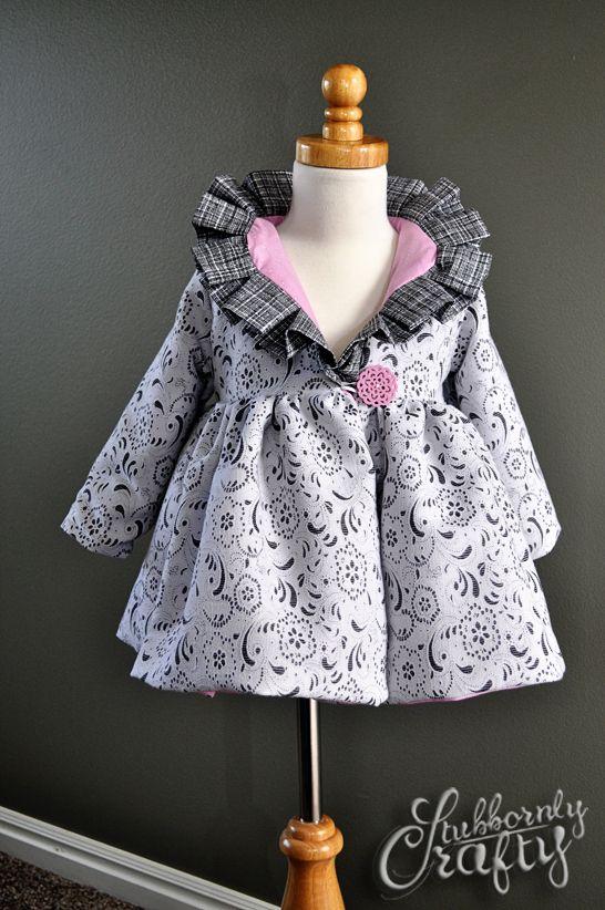 Amelia Pleated Ruffle Coat