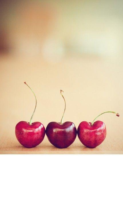 Heart-shaped cherries :)
