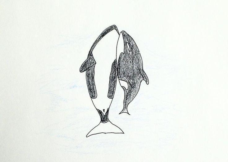 WHALE . . . #illustration #drawing #sketch #doodle #whale #animal #sea #nowhales . #고래 #바다 #범고래 #동물보호 #포경금지 #일러스트 #드로잉 #스케치 #두들