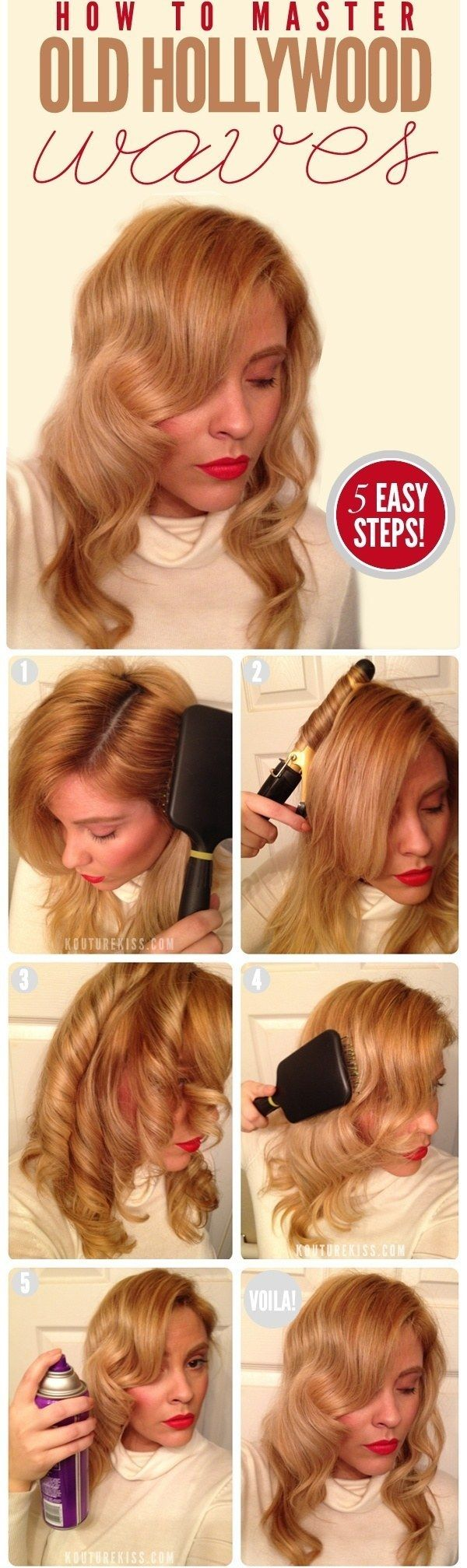 5 easy steps__Vintage Hairstyle Tutorial: Lauren Bacall's Waves