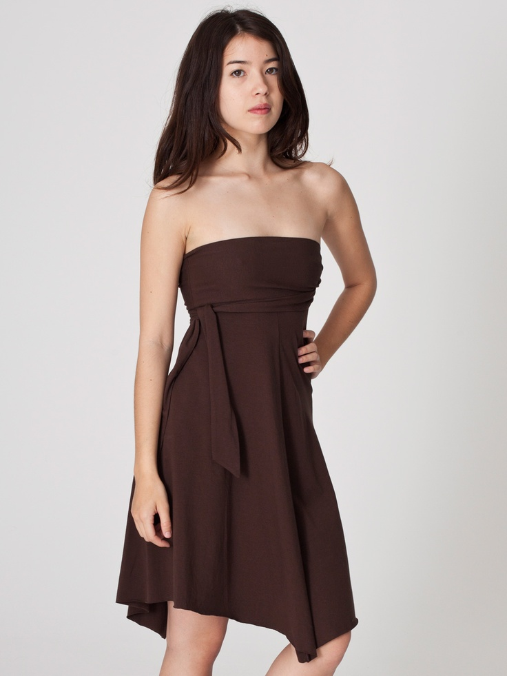 Cotton Spandex Jersey Bandeau Dress   Strapless & Bandeaus   Women's Dresses   American Apparel   @Hannah Mestel Crabtree  this is another one that the straps can be changed around, but it doesn't come in that 'grass' color and I think the Evergreen is too dark. Yes?