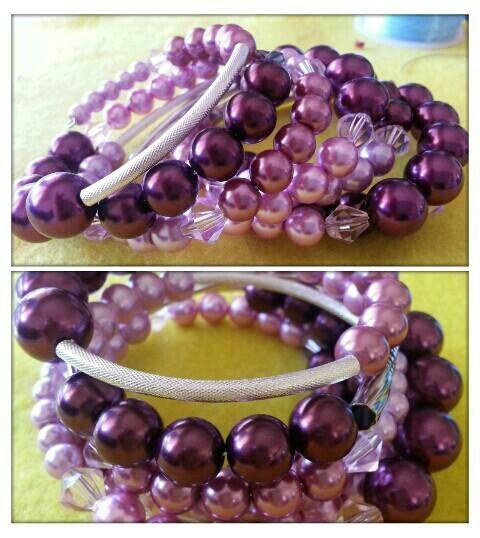 7 loop memory wire purple cuff