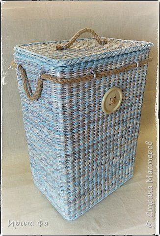 Поделка изделие Плетение Хиты сезона Сундук и мой вариант плетеного дна Трубочки бумажные фото 45