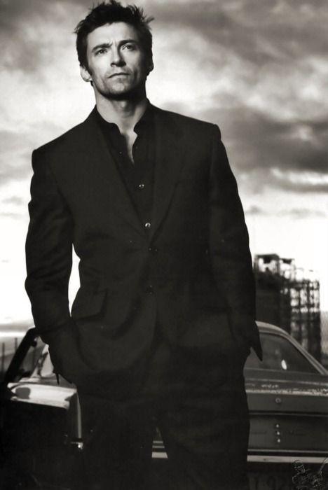 Hugh Jackman  B & W #handsome #men
