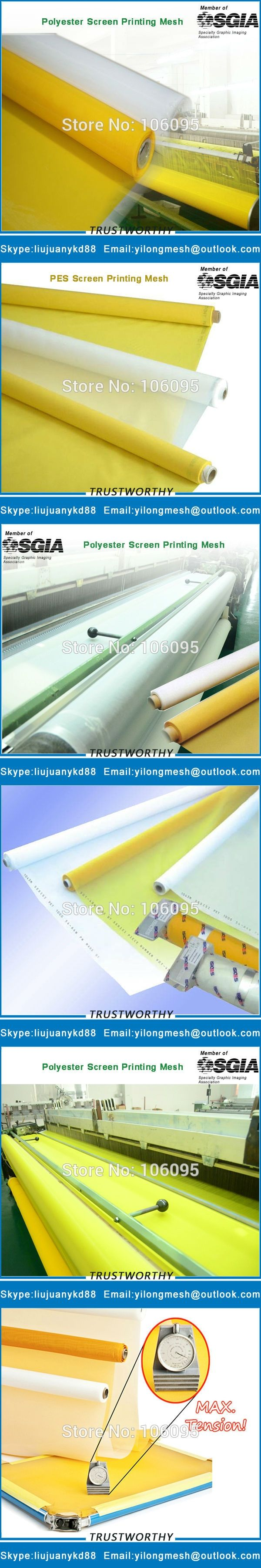 100T(255Mesh) 40um127cm White 25meters Polyester Silk Screen Mesh For Screen Printing Free Shipping with Fast Delivery!
