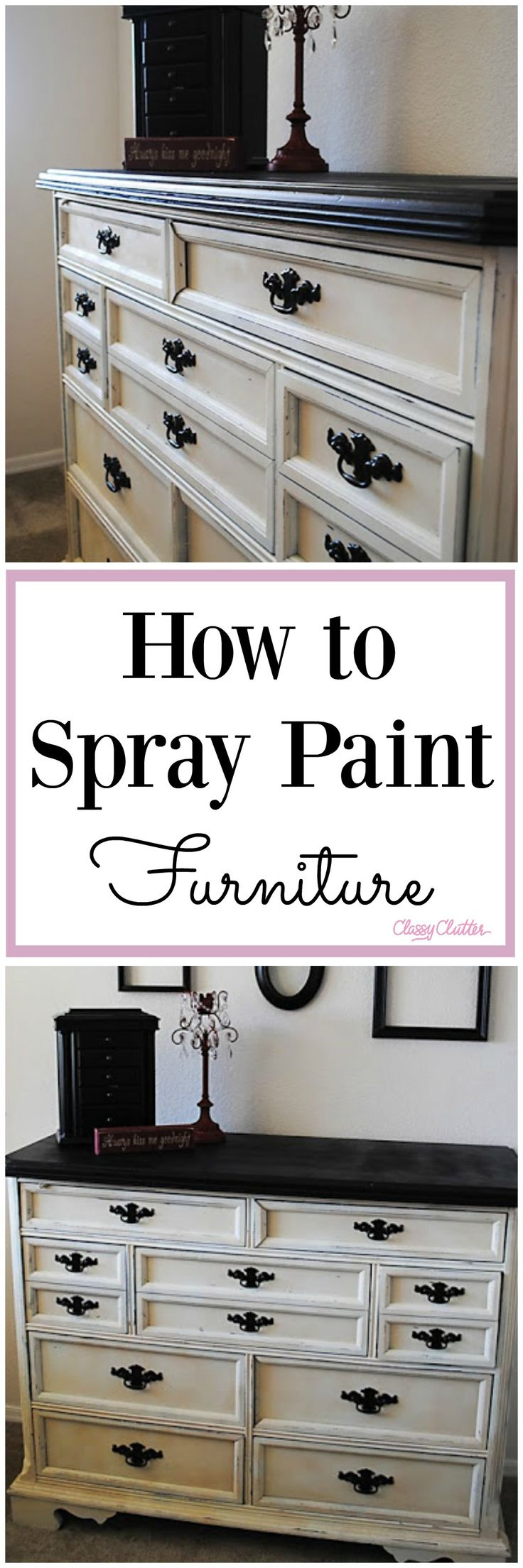 How to spray paint furniture. The simple and easy tips. Check them out