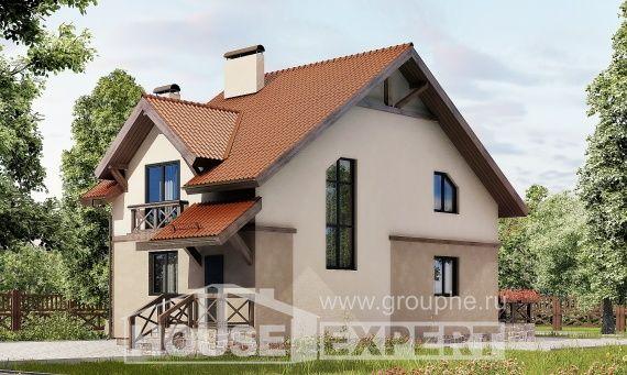 120-003-L Projekt domu dwukondygnacyjnego z pięterkiem mansardowym, piękny dom z betonu drewnianego, Bytom