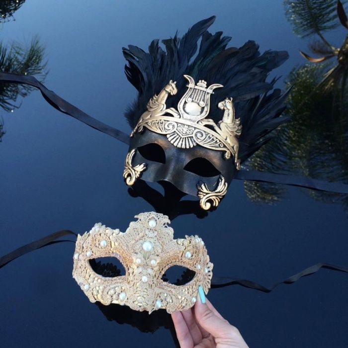Parti en plumes masque beauté Lady Mardi Gras Carnaval coloré Venise Masque Cosplay