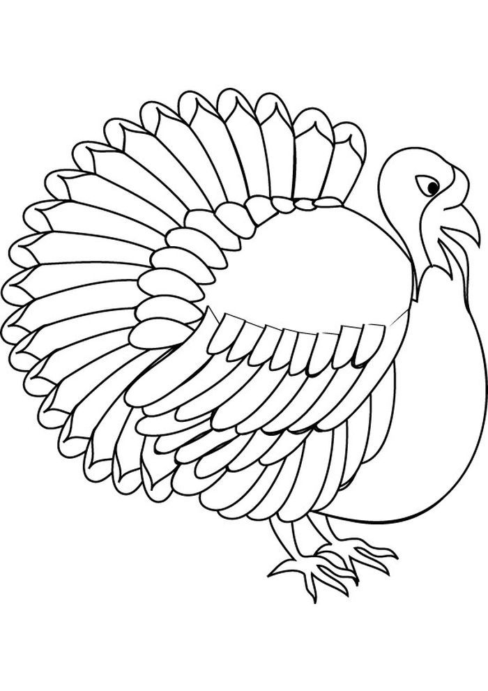 Turkey Vulture Coloring Pages From Printable Turkey Coloring Pages