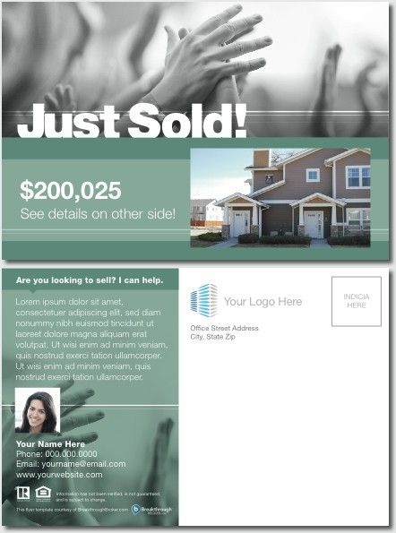 just sold postcard 1 real estate marketing in 2018 real estate