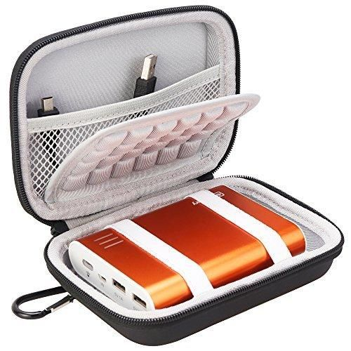BOVKE EVA Shockproof Travel Carrying Storage Case Bag for Jackery Giant 12000 mAh 10200mAh RAVPower 16000mAh/13000mAh Anker PowerCore 10400 Portable Charger Power Bank External BatteryBlack