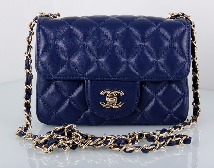 Сумка Chanel Mini Flap Bag синяя
