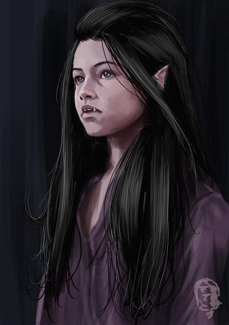 2D Gallery. Half orc girl NPC