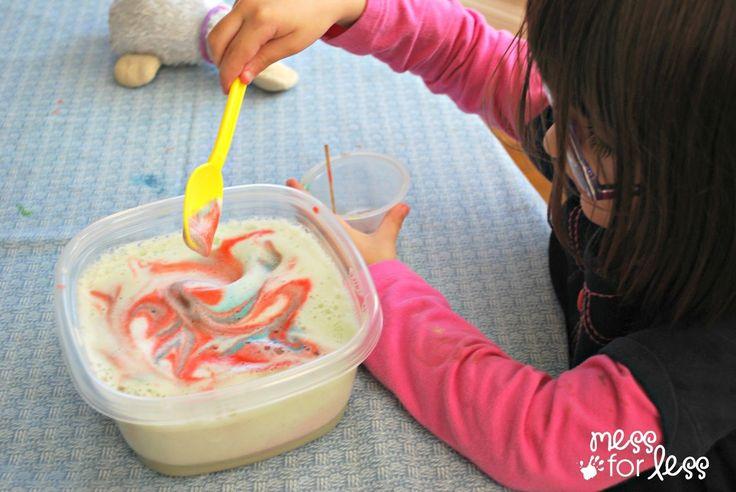 Okul öncesi çocuklarımız için güzel bir oyun hazırladık. Patlayan süt deneyi. Çocuklarınız bu oyunu çok sevecekler. Okul öncesi çocuklarımız için çok keyif