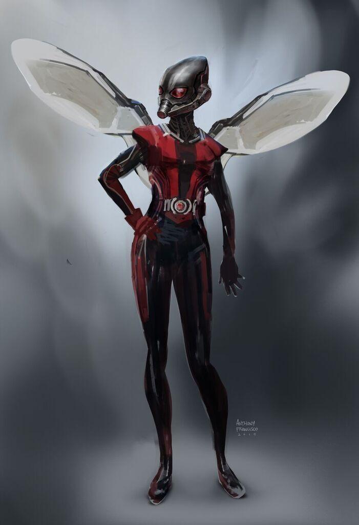Antman Concept art - Wasp by Ubermonster.deviantart.com on ...