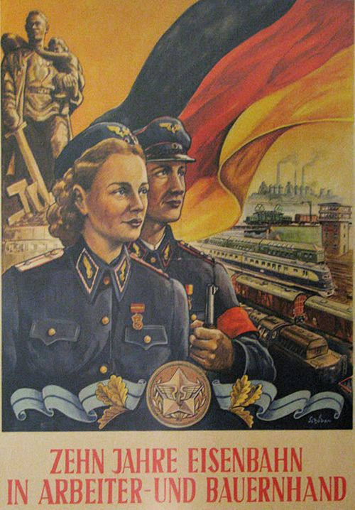 DDR (East Germany) 10 years of worker and farmer railroad (1945-1955)