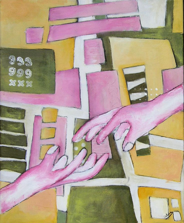 Hands #1 - Acrylics - by CelinaS - a member of the Hangar Artist Group (www.hangarart.org)
