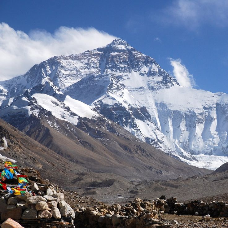 Mt Everest taken from Rhombuk, Tibet