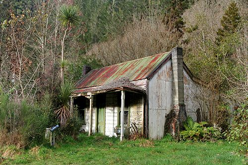 Old house, Blacks Point, Reefton, West Coast, New Zealand