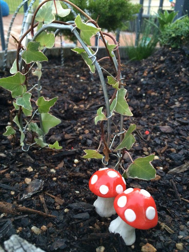 Polymer Clay Mushrooms for my fairy garden