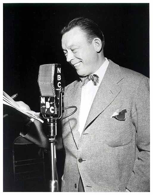 Fred Allen hosted and often writer of various shows including 'The Fred Allen Show' and 'Town Hall Tonight' on the radio during the 1930s and 1940s. Allen was a brilliant writer, whose current events driven work was really a fore-runner to the work of a number of contemporary comedians.