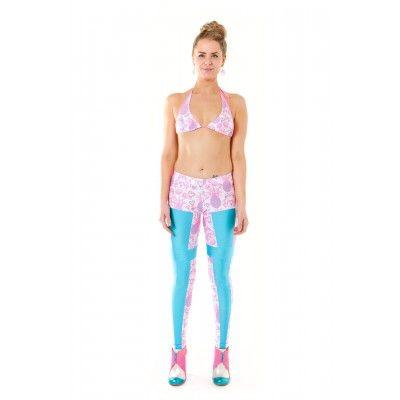 Pineapple Leggings White/ Aqua AU$125. #sportswear #women #leggings #fashion