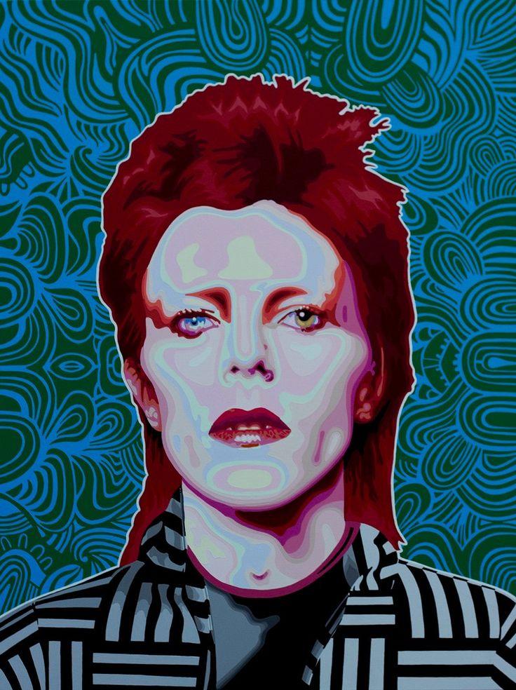 #POP #ART Elisabetta Fantone - David Bowie | Acrylic on Canvas with Resin finish,  122x97cm, £6000