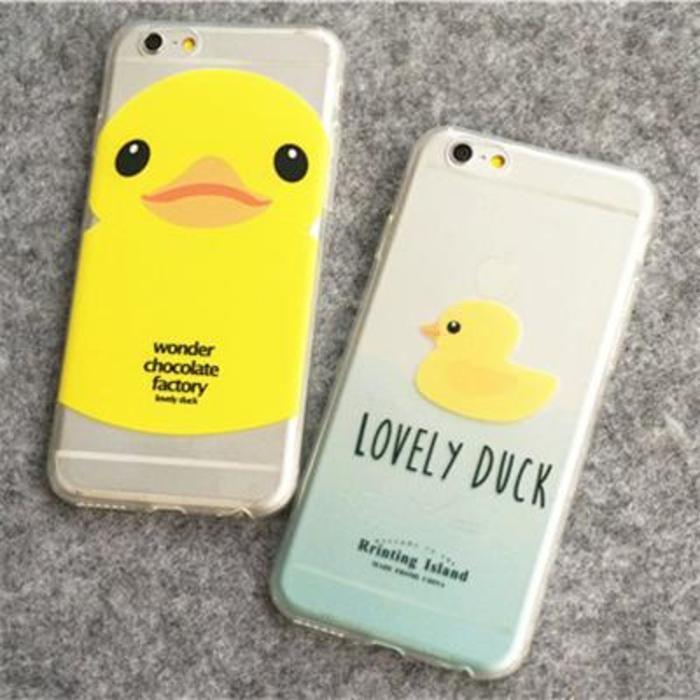 6 grandes pato amarillo iPhone6plus de Apple ultra-delgada cáscara del teléfono de 4,7 pulgadas de concha blanda manga protectora amantes transparentes