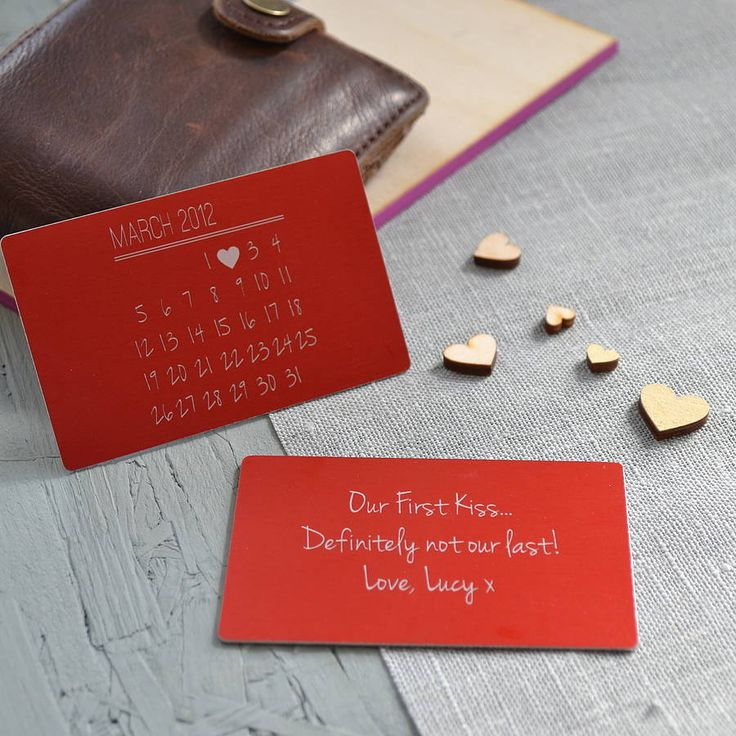 A truly unique memorable date keepsake wallet card, with calendar-style design and additional personalised message on the reverse.The image above displays the front of the keepsake, with a personalised calendar-style design, and the reverse of the card, with a personalised message. Available in a choice of eight distinguished colours, in scratch-resistant aluminium that will last a lifetime. Each of our cards are engraved and give a subtle finish that has a unique display in different ...