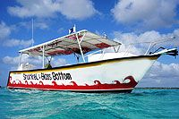 $45 snorkel Palancar and Columbia Reef Cozumel Snorkeling Tour glass bottom boat