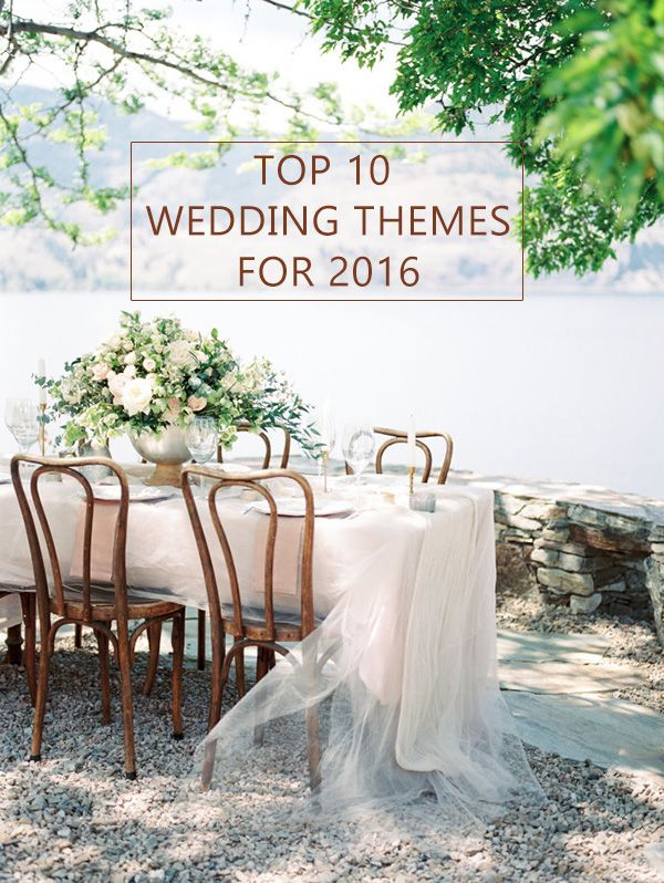 top 10 wedding theme ideas for 2016 wedding trends