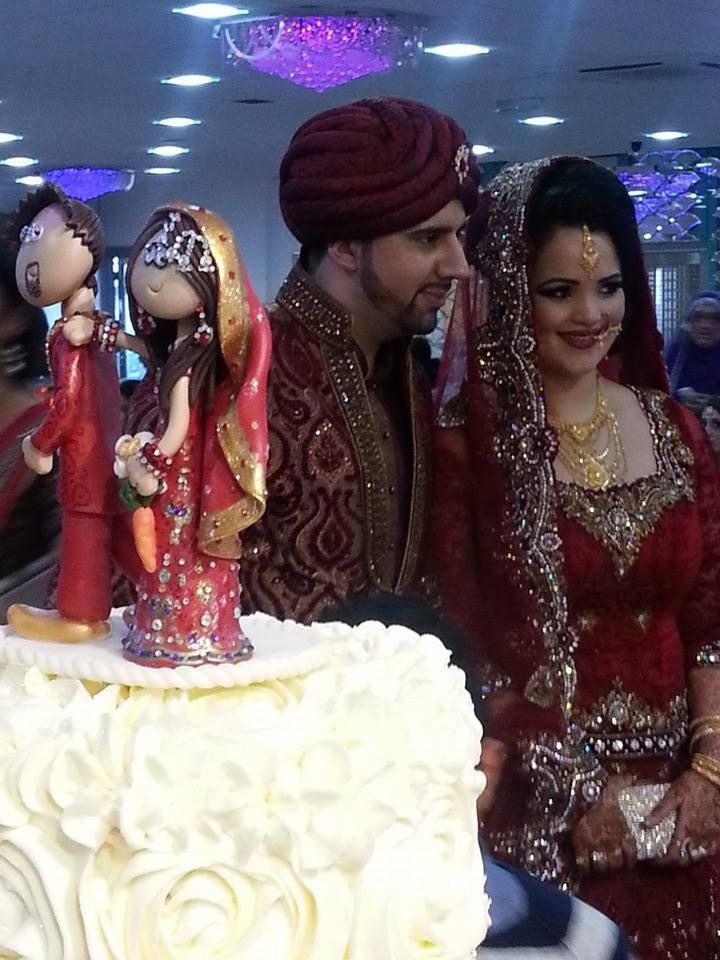 Indian Asian Pakistani Wedding Cake Toppers This One Is On A Cupcake Tower