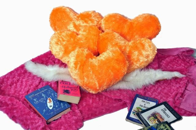 Orange  Color Valentine Heart Cushion Pack Of 5
