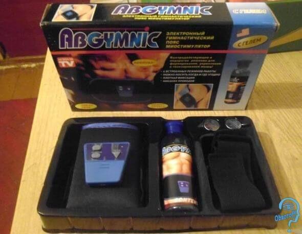 Обзор миостимулятора Ab Gymnic для похудения, тренировки мышц спины, пресса и бицепсов. Цена, отзывы, инструкция по применению, польза для здоровья и методика