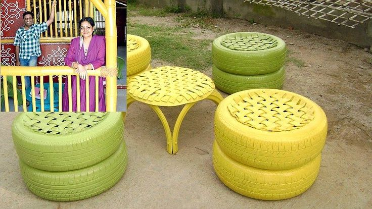 Recycled Tire Furniture - Bamboo House India Turns Scrap Tires into Beautiful Upcycled Furniture (GALLERY)