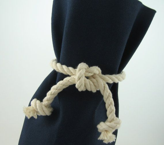Going to do this with sesal rope to make curtain tie backs.