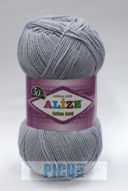 Poze Fir de tricotat sau crosetat - Fir ALIZE COTTON GOLD GRI 21