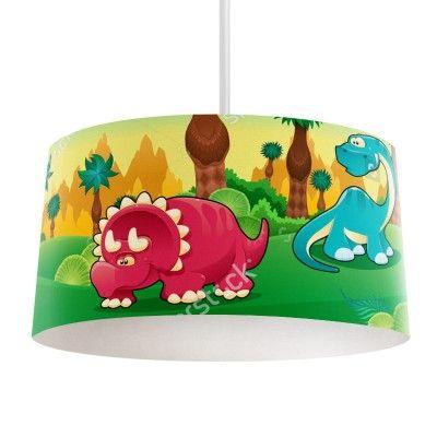 Lampenkap Dino land | Bestel lampenkappen voorzien van digitale print op hoogwaardige kunststof vandaag nog bij YouPri. Verkrijgbaar in verschillende maten en geschikt voor diverse ruimtes. Te bestellen met een eigen afbeelding of een print uit onze collectie. #lampenkap #lampenkappen #lamp #interieur #interieurdesign #woonruimte #slaapkamer #maken #pimpen #diy #modern #bekleden #design #foto #jongen #jongenskamer #babykamer #dino #dinosaurus #cartoon