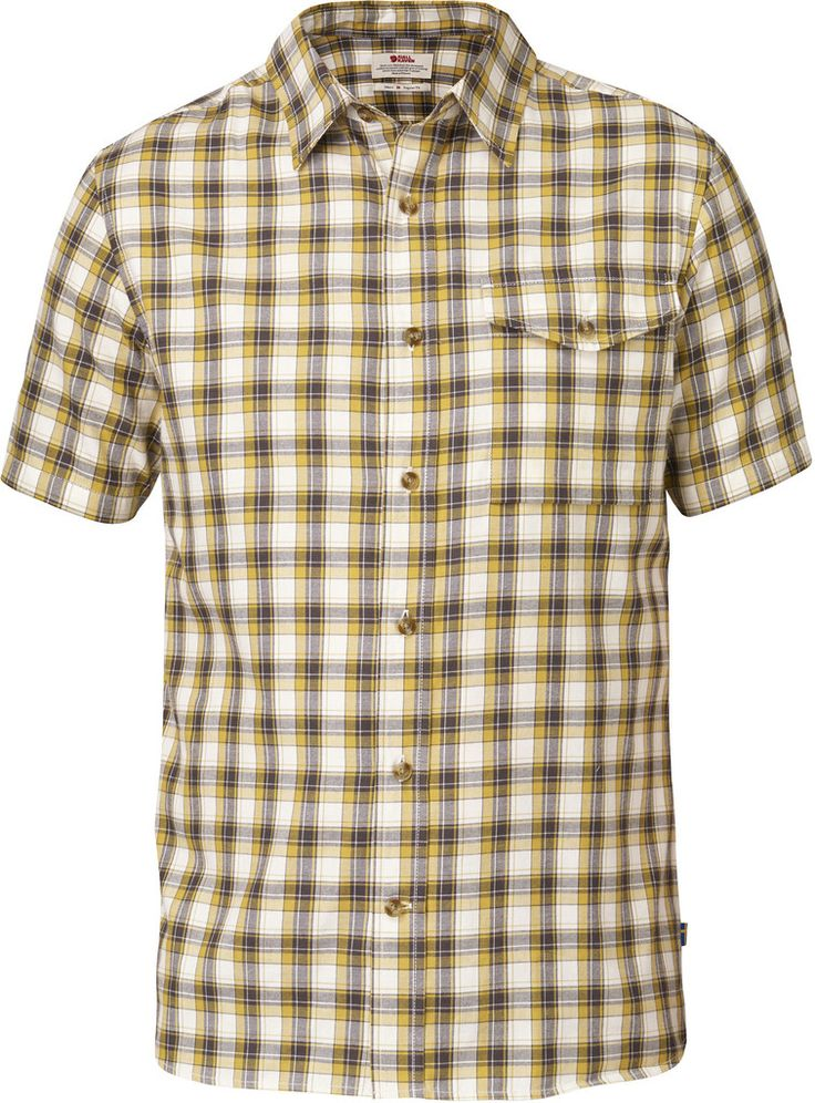 Short-sleeved trekking shirt in functional wool/cotton flannel. Comfort fit and a chest pocket with flap.