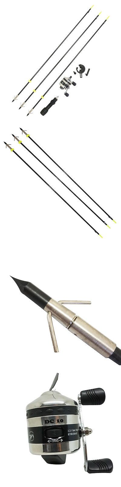 Other Archery 1291: Safari Choice Bowfishing Combo - Reel, Arrow Rest, Black Reel Seat, Arrows BUY IT NOW ONLY: $89.98