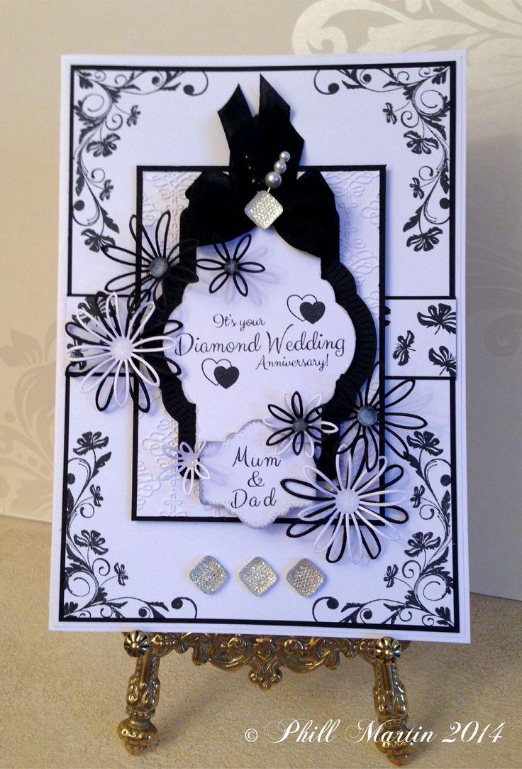 21cm x 16cm card, made using my new Floral Flourish & Corners Stamps, Elegant Alphabet Stamps and Elegant Milestone Anniversaries Stamps :-)
