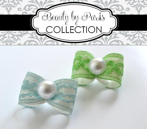 Satin and Lace  Dog Bow Limited Supply HURRY by BeautybyParis, $5.50