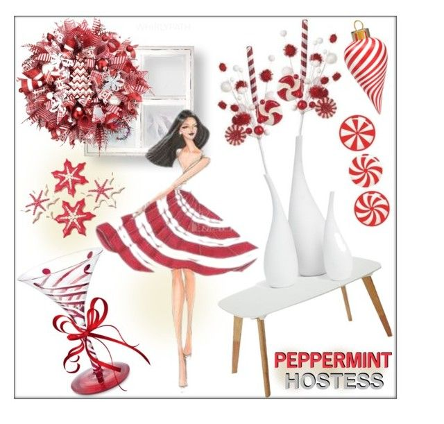 Peppermint Hostess! by whirlypath on Polyvore featuring interior, interiors, interior design, home, home decor, interior decorating, Mitchell Gold + Bob Williams and kitchen