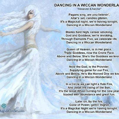 Dancing in a Wiccan Wonderland -Pagan  song lyrics