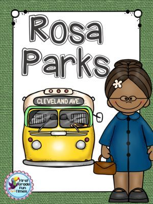 Black History Rosa Parks from First Grade Fun Times on TeachersNotebook.com -  (30 pages)  - Printable readers and writing activities for Rosa Parks