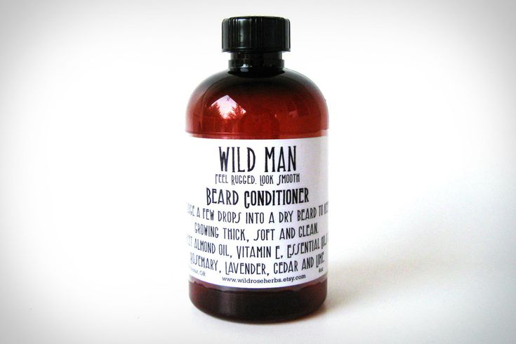 Wild Man Beard Conditioner - A special blend of sweet almond oil, Vitamin E, and Essential Oils of rosemary, lavender, cedar, and lime, it'll prevent blemishes, keep your growth feeling soft, and give your face a subtle yet manly scent.